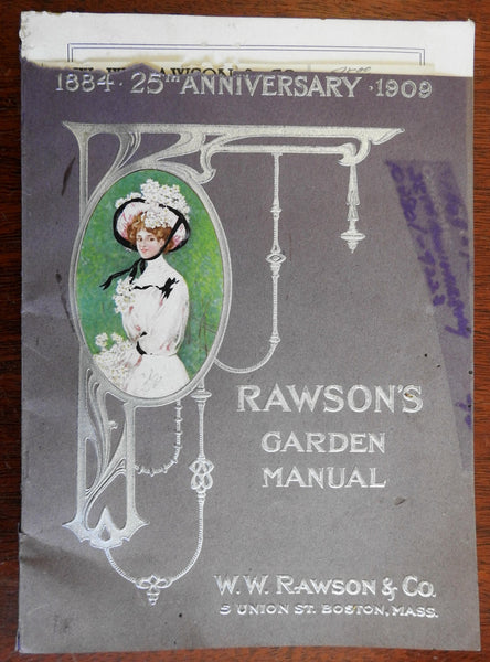 Rawson's Garden Manual 1909 seed catalog gardening book 25th anniversary edition
