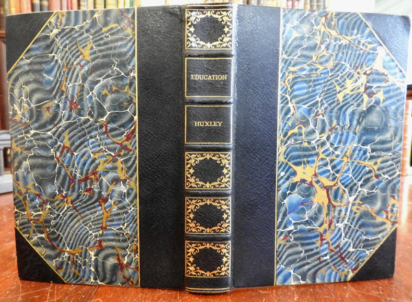 Science and Education T.H. Huxley c.1890's limited edition fine old leather book