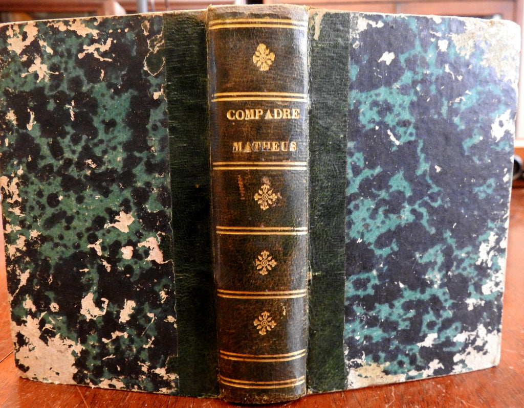 Human Spirit Compadre Matheus 1822 scarce Portuguese leather antiquarian book