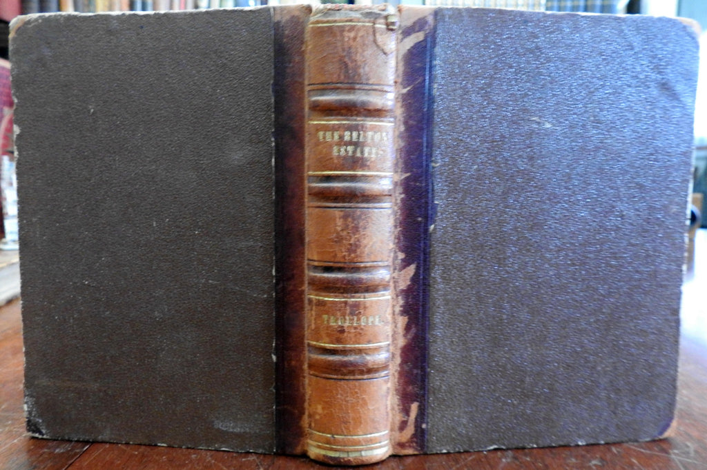 The Belton Estate by Anthony Trollope Victorian 1866 Leipzig leather book lit.