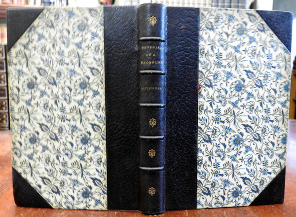 Reveries of a Bachelor Literature 1892 Mitchell decorative leather gift book