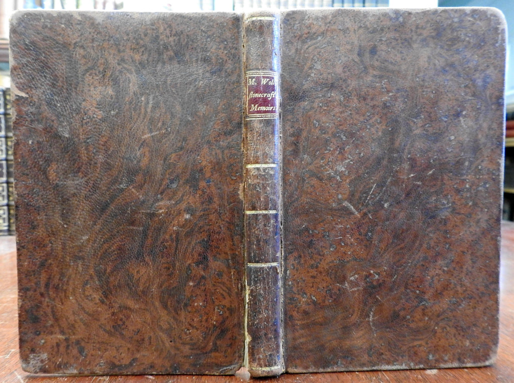 Mary Wollstonecraft Biography 1799 American edition nice old leather book