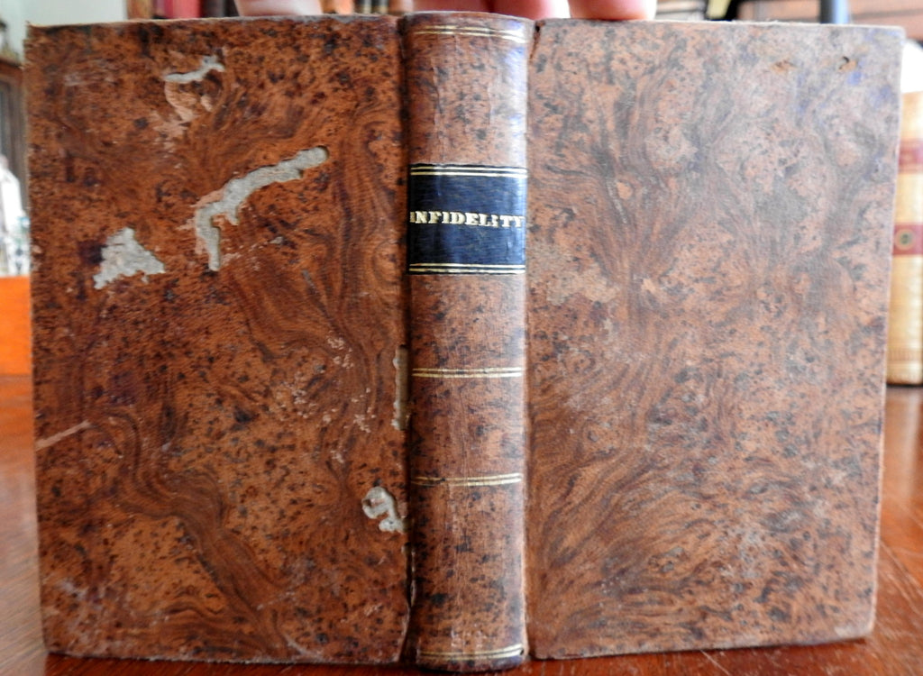 Infidelity: Six Religious Pamphlets Christianity Theology 1830 leather book
