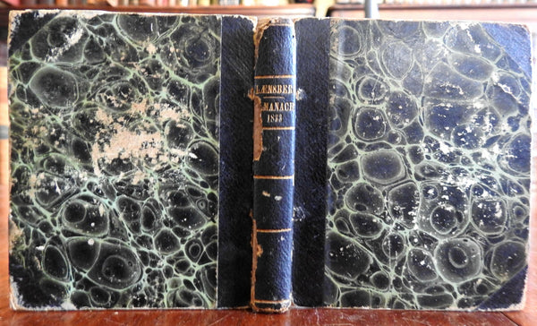 1833 French Almanac Laensberg book woodcut illustrated edition Celestial
