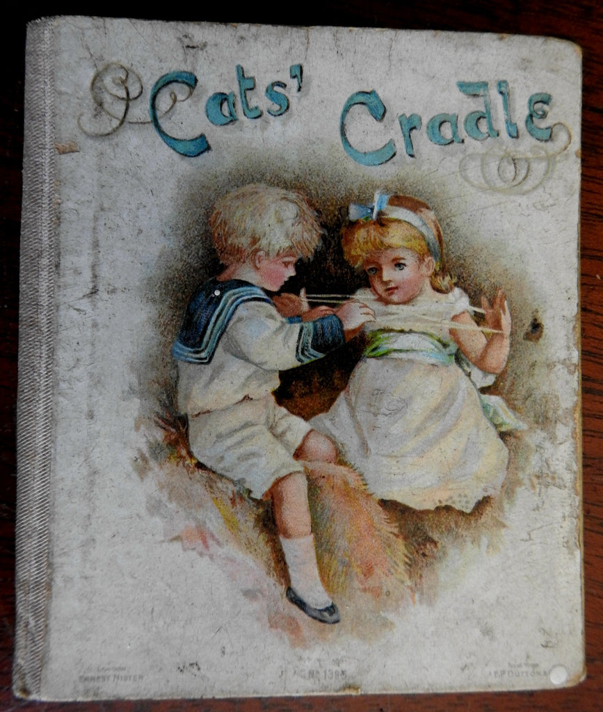 Cat's Cradle Children's Story 1890's Illustrated Nister Dutton juvenile book