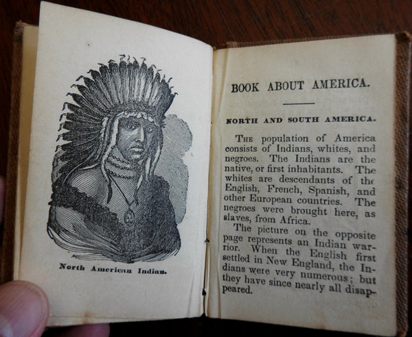 Child's Picture Book c. 1840's Indians Ethnic dogs birds flowers chap books x 6