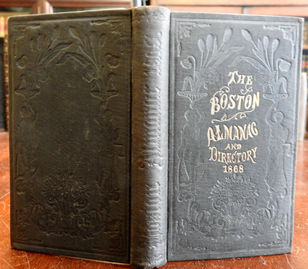 Boston Almanac Mass. 1868 city advertising business directory pocket book