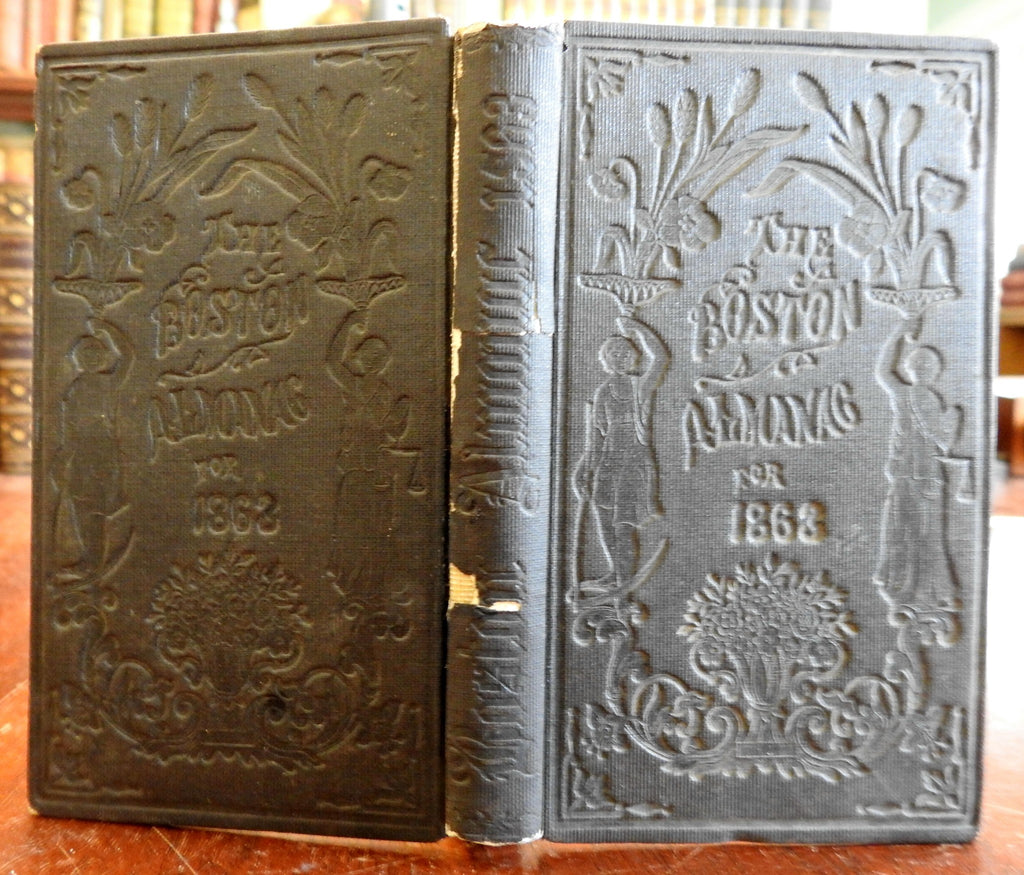 Boston Almanac Massachusetts 1863 rare city book advertising business directory