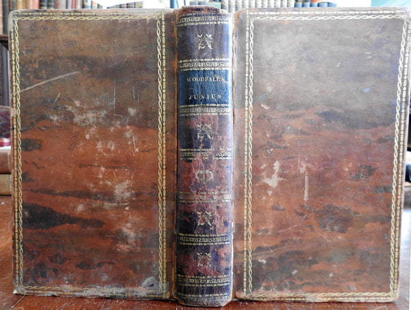 Letters and Correspondence of Junius 1813 Wilkes & Woodfall rare leather book