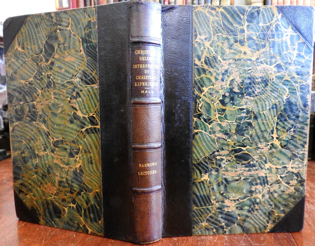 Christian Belief Lectures India Sri Lanka Japan Barrows Foundation 1905 old book