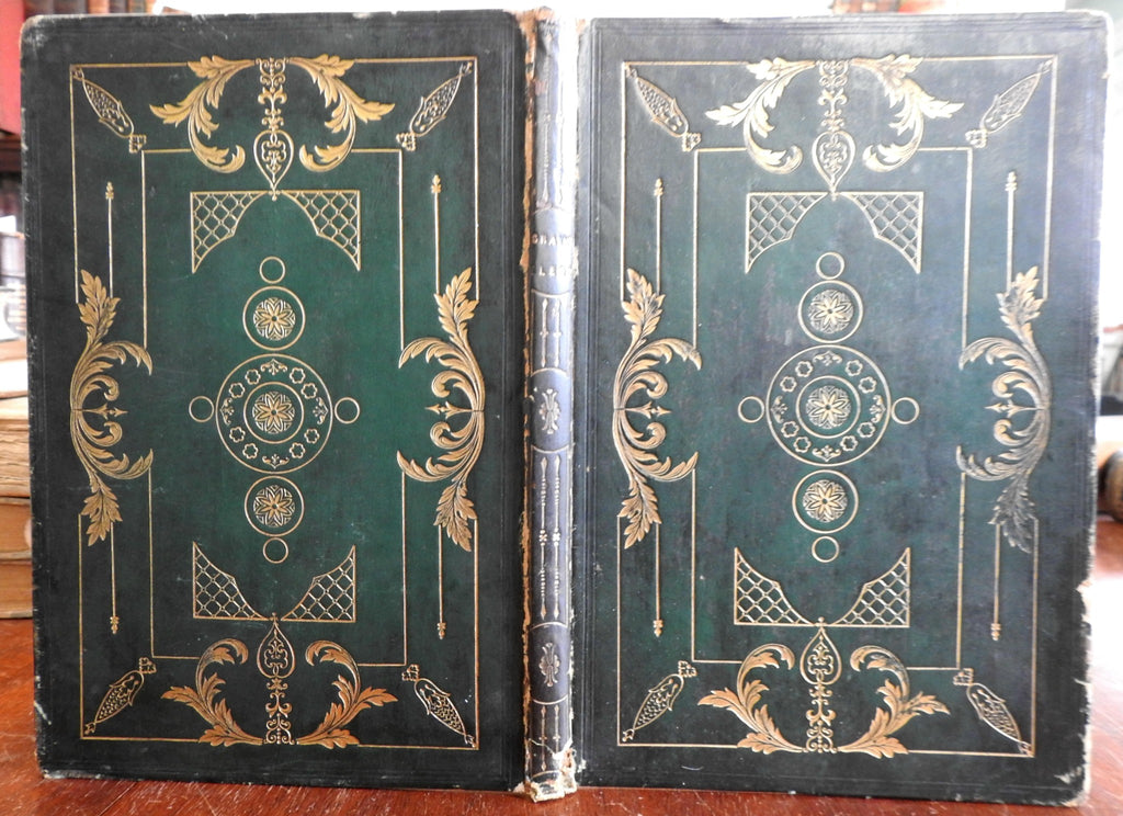 Elegy Written in a Country Churchyard Thomas Gray Poetry 1845 decorative binding