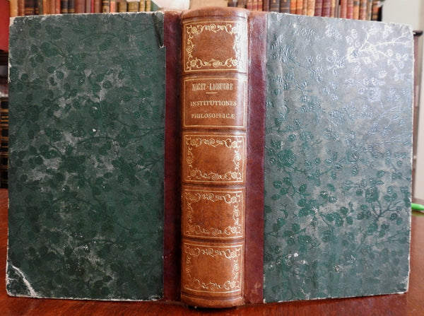 Philosophical Institutions 1848 Latin text Italian nice old antiquarian book