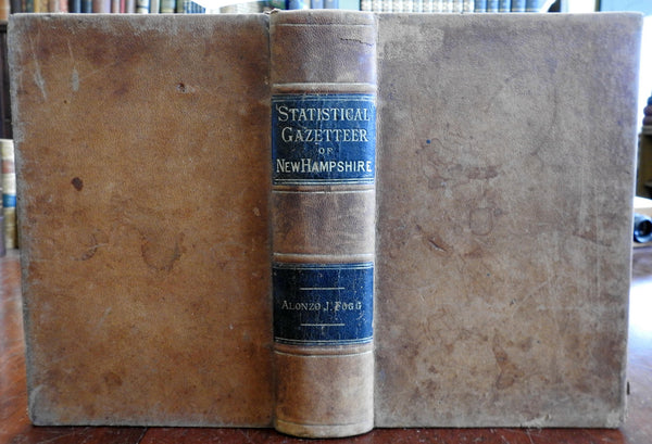 New Hampshire Statistical Gazetteer 1874 large reference book population charts
