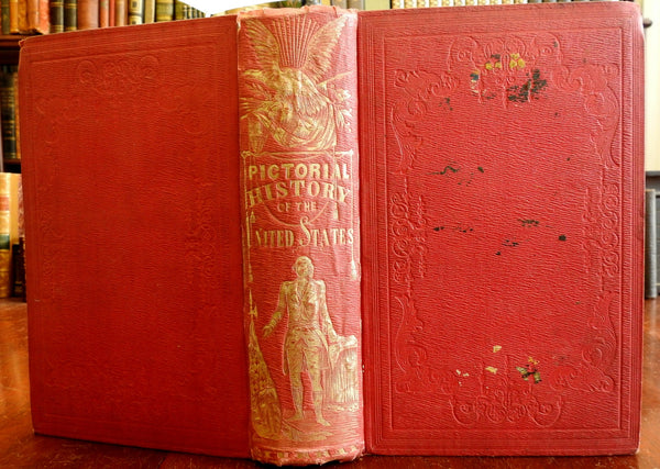 Pictorial History of United States 1853 Boston gilt pictorial book G. Washington