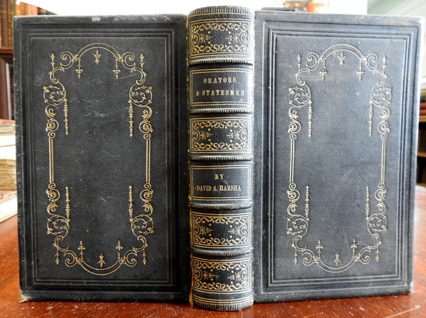 Famous Orators and Statesmen Cicero Daniel Webster Henry Clay 1855 old book
