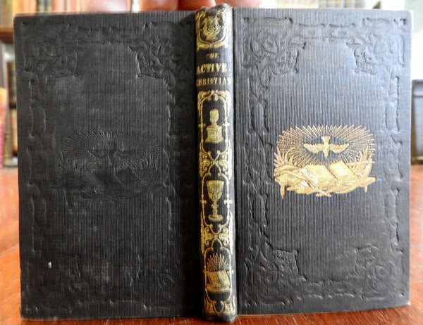 John Harris Christianity Religious Essays 1844 near-miniature antiquarian book