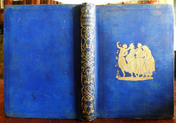 The Season 1842 James Thomson Poetry lovely illustrated gift edition book