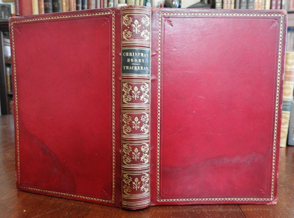 Christmas Books Mr. M. A. Titmarsh 1886 Thackeray Doyle illustrated leather book