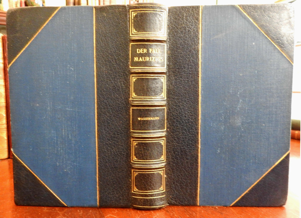 Der Fall Maurizius 1928 Wasserman Berlin Germany leather book lovely 1st Ed.