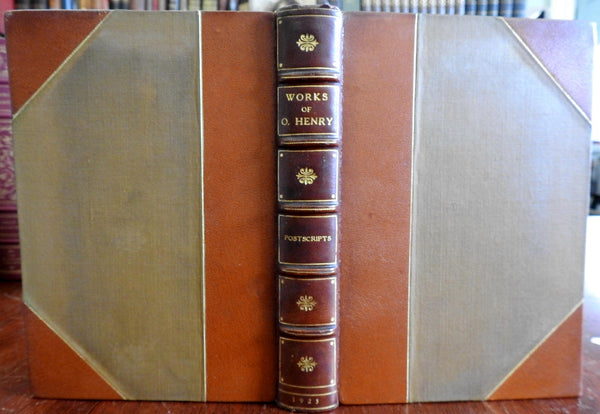 Postscripts by O. Henry 1923 leather antiquarian book beautiful shelf appearance