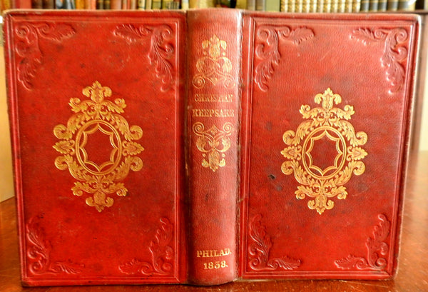 Christian Keepsake Missionary Annual Rev. Clark 1838 decorative leather binding