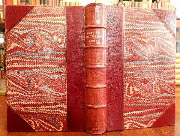 John Morley Critical Miscellanies Second 1877 London beautiful old leather book