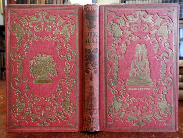 Ladies Album 1850 Illustrated Women's Magazine nice gift binding w/ botanicals
