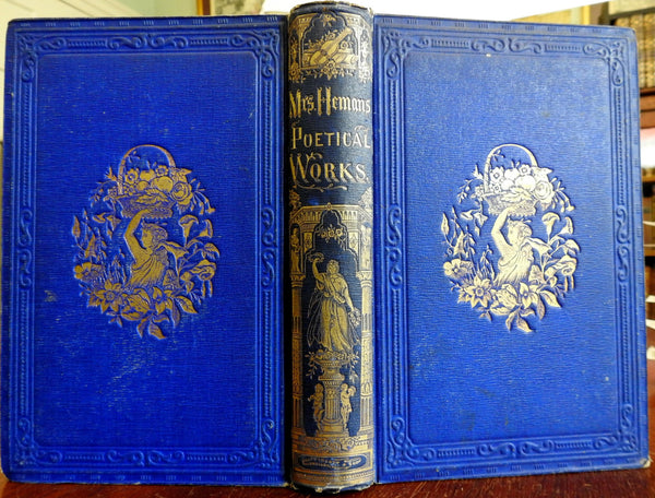 Complete Poems of Felicia Hemans 1856 lovely decorative antique book