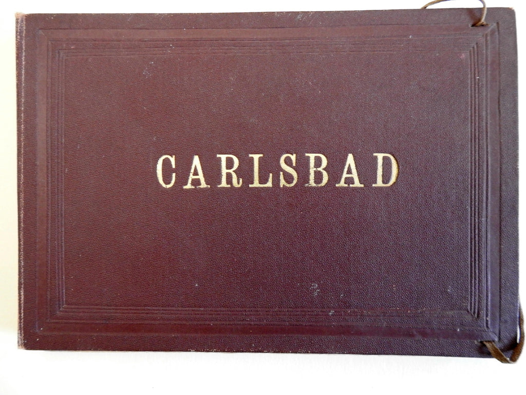 Carlsbad Germany c.1870's Souvenir Photo Album 8 mounted albumen photos