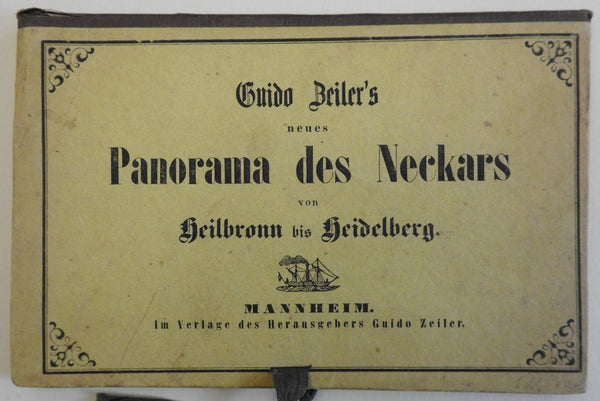 Panorama of the Neckars River Germany Rhineland c.1840's Souvenir guide book