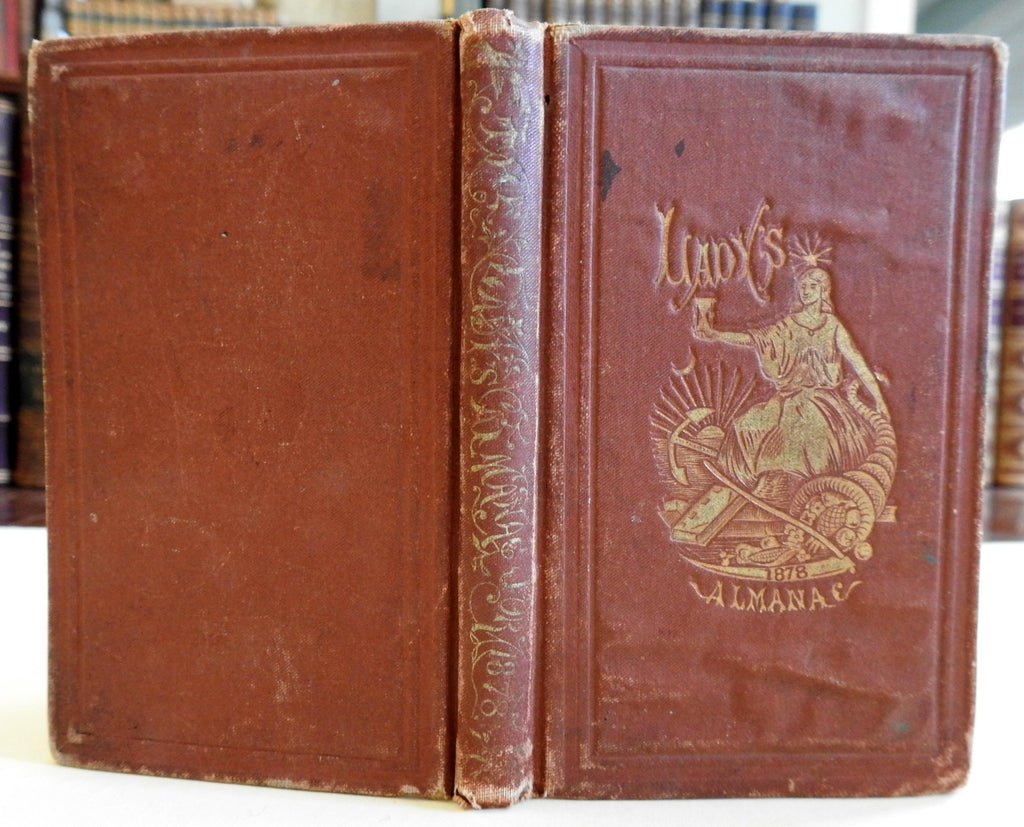 Lady's Almanac 1878 pocket edition decorative binding period advertising