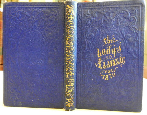 Lady's Almanac 1870 pocket edition decorative binding period advertising