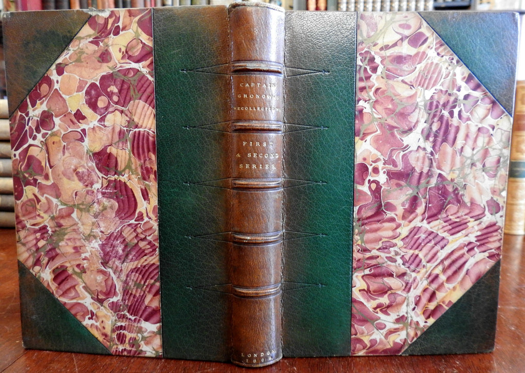 Captain Gronow's Recollections European Society 1864 memoir fine leather book
