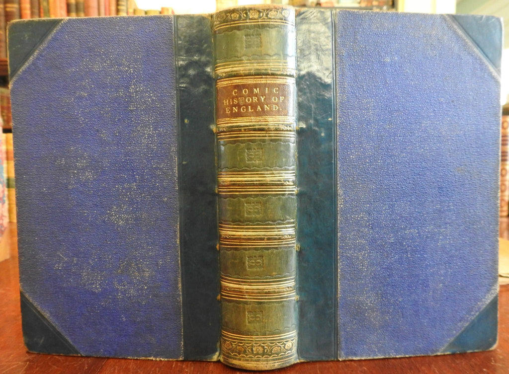 Comic History of England Punch 1864 illustrated 20 hand color plates nice book