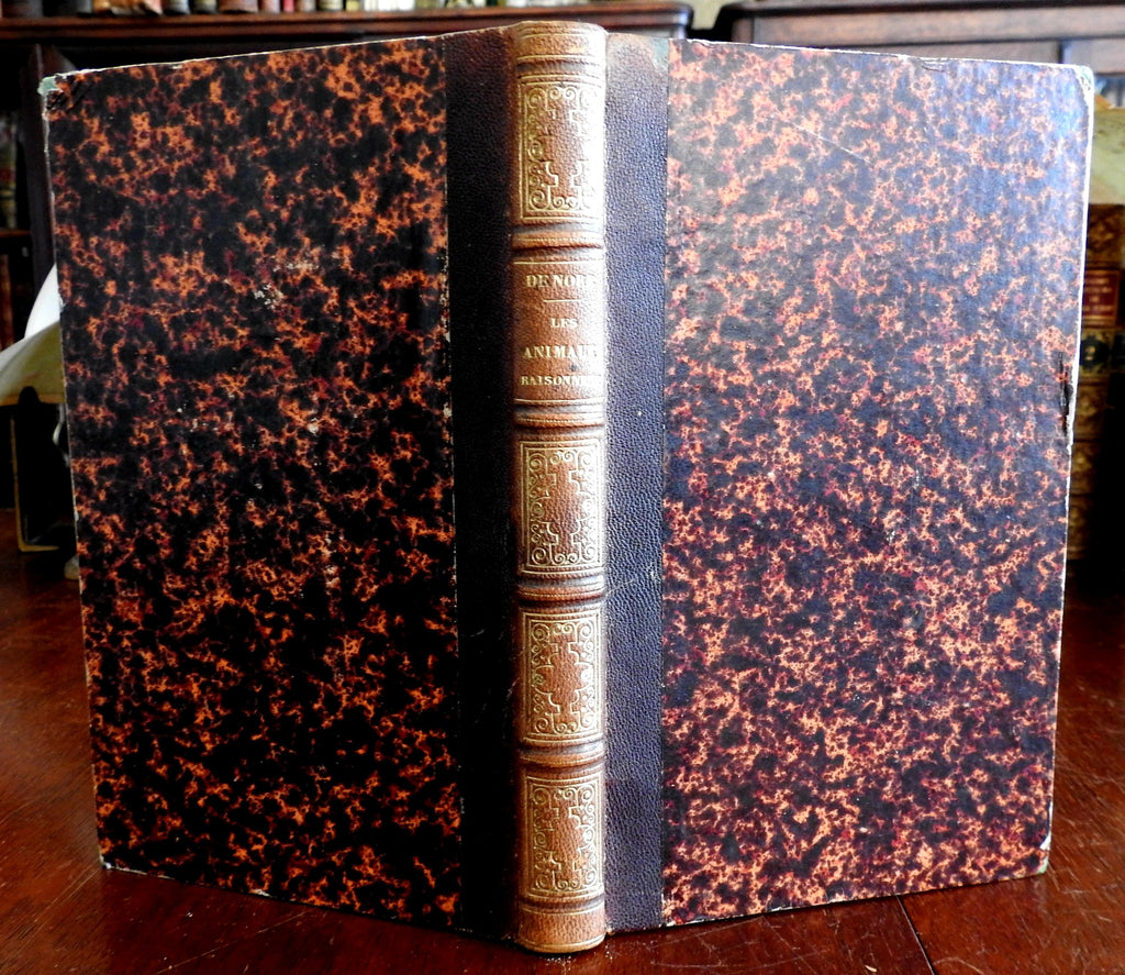 Animal Reason Les Animaux Raisonnent c.1850 Nore Paris French fine leather book