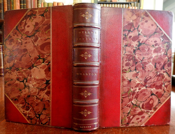 Queens of Society Powerful Women c. 1870-90's Wharton attractive leather book