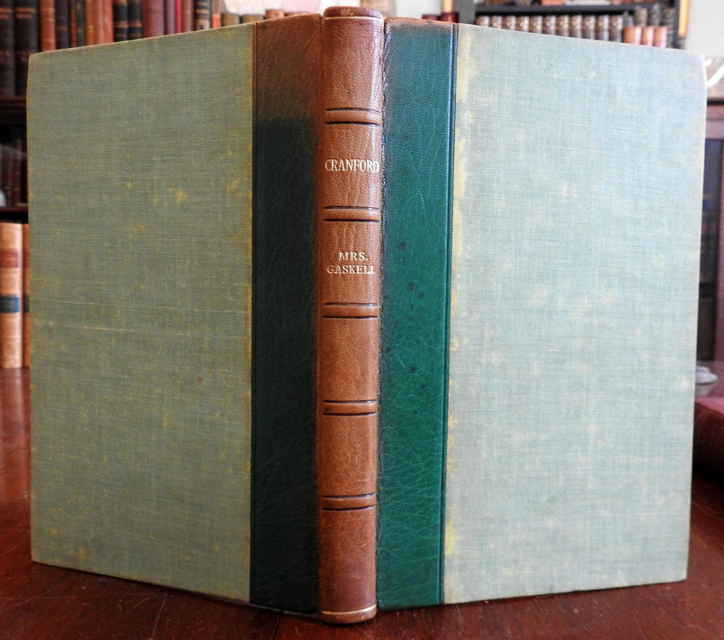 Cranford by Elizabeth Gaskell 1948 illustrated Joan Hassall leather book
