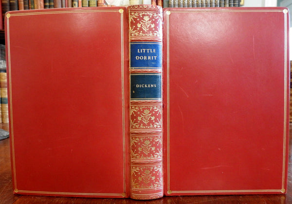 Little Dorrit Charles Dickens 1951 Gorgeous leather book Cournos illustrations