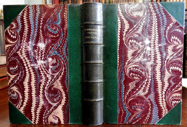 Roundabout Papers William Makepeace Thackery Victorian 1869 fine leather book