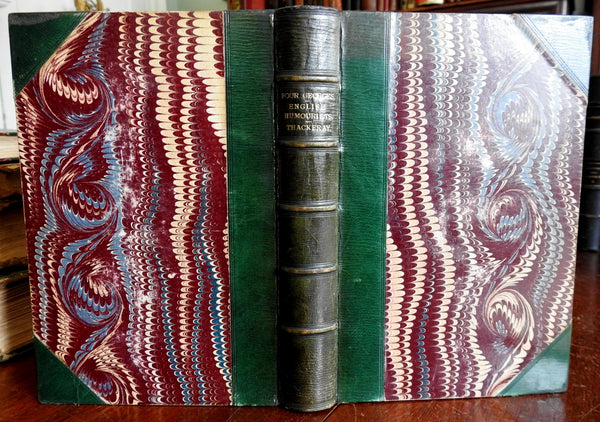 Four Georges & English Humourists William Thackery 1869 leather book