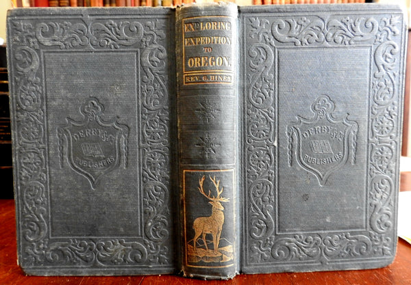 Exploring Expedition to Oregon Gustavus Hines 1851 Western America book