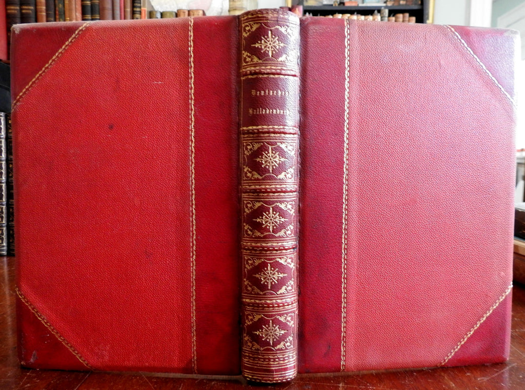 German Songbook Lyrical Manual 1858 lovely illustrated leather book