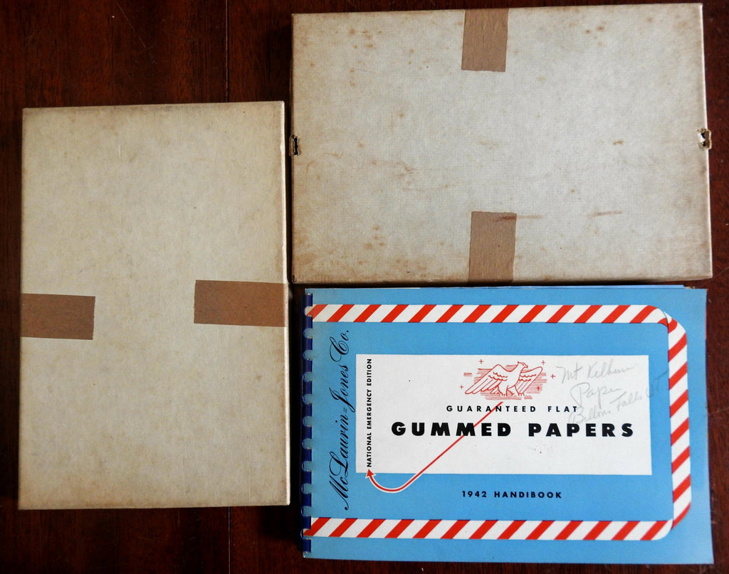 McLaurin-Jones Paper Samples Book 1942 World War II Era from Brookfield Mass.