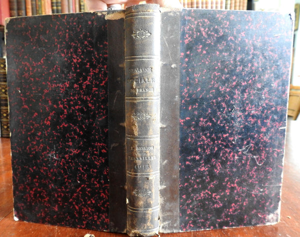 Doctrine et de Pratique Sociales 1913 French academic work leather book