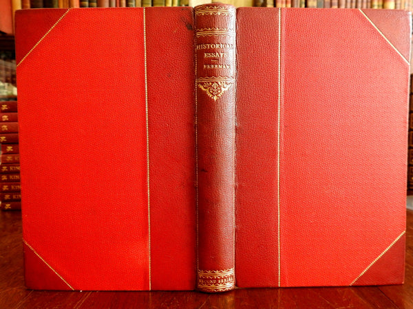 Edward Freeman Historical Essays Greece Rome 1873 fine antiquarian leather book