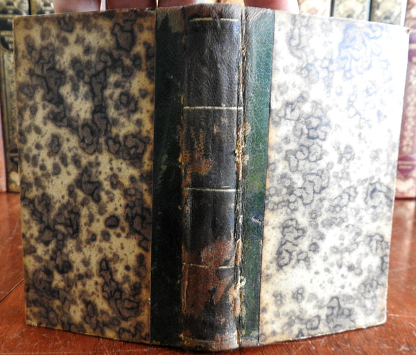 William Cowper The Task & Tirocinium 1821 small pocket leather book w/ portrait