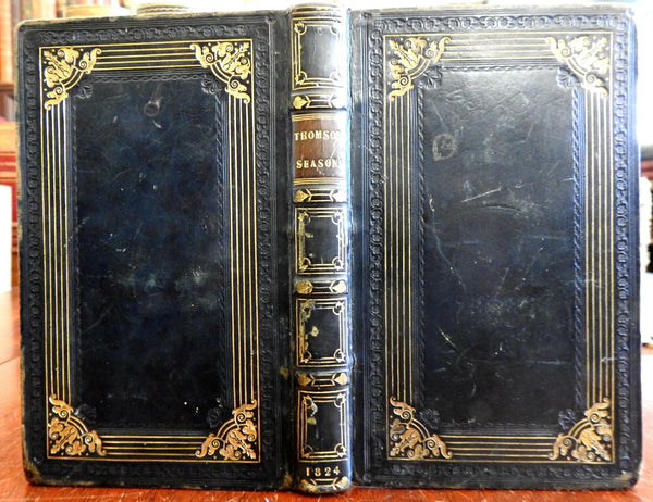 The Seasons John Sharpe English Poetry 1824 Westall engraved plates leather book