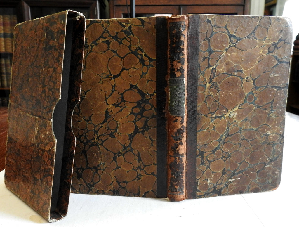 Sabbath Prayer Book Hebrew and German Text 1845 antiquarian leather book