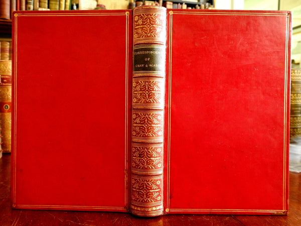 Thomas Gray William Mason Book of Letters 1855 Victorian beautiful leather book