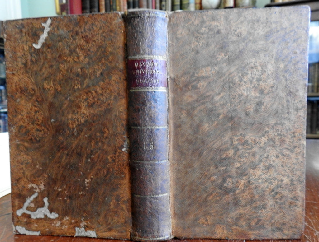 Mavor's Universal History of Italy 1804 attractive rare leather book